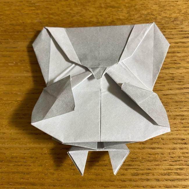 折り紙のフクロウはリアルでかわいい♪折り方作り方 (62)