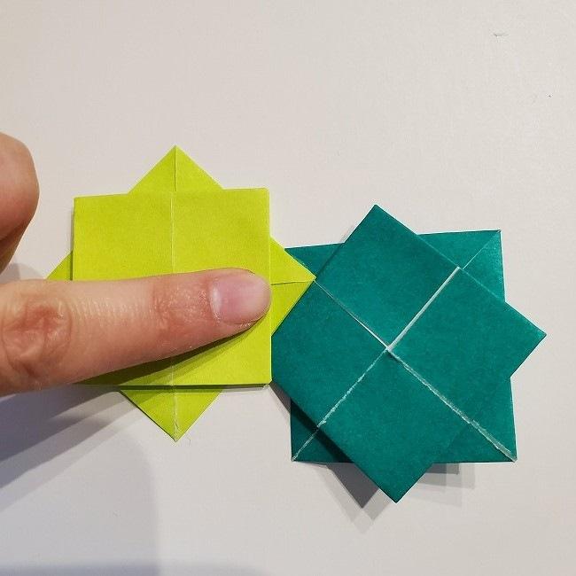 折り紙の菜の花のリースの作り方 (1)