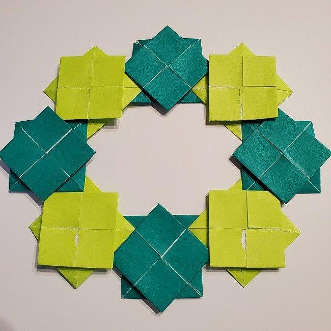 折り紙の菜の花のリースの作り方 (2)