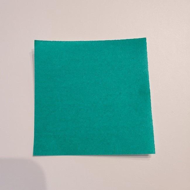折り紙の菜の花のリースの作り方1パーツ (1)