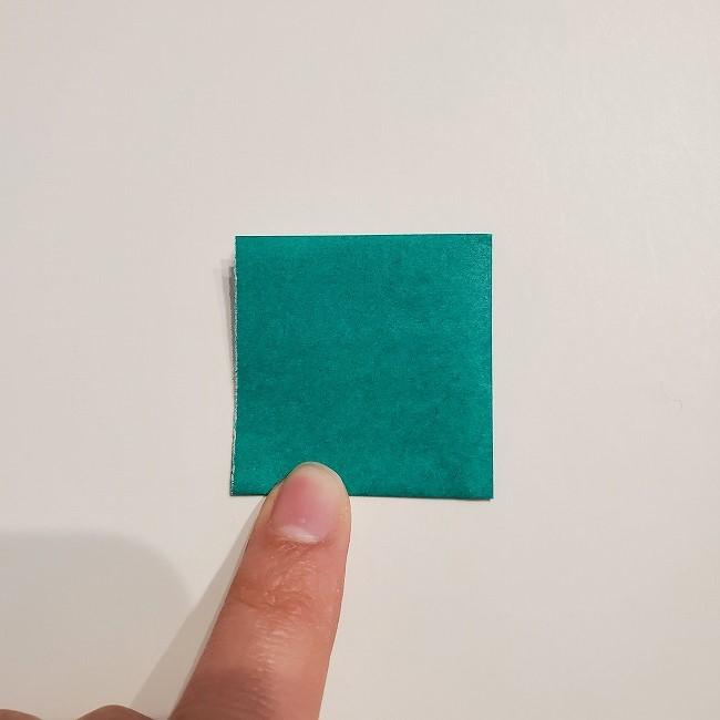 折り紙の菜の花のリースの作り方1パーツ (3)