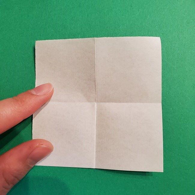折り紙の菜の花のリースの作り方1パーツ (4)