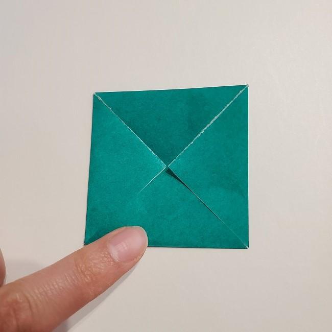 折り紙の菜の花のリースの作り方1パーツ (5)