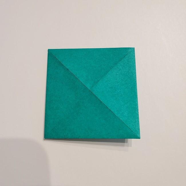 折り紙の菜の花のリースの作り方1パーツ (6)