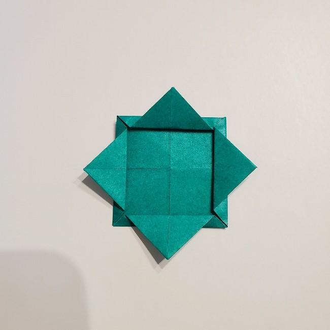 折り紙の菜の花のリースの作り方1パーツ (8)