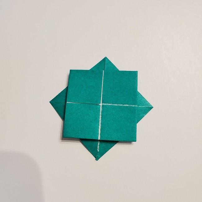 折り紙の菜の花のリースの作り方1パーツ (9)