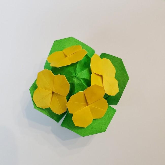 折り紙の菜の花を立体的につくる折り方作り方★華やかでかわいい春の飾り♪