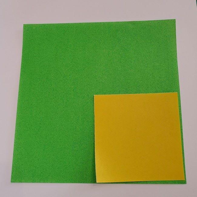 折り紙の菜の花(立体)*用意するもの (1)