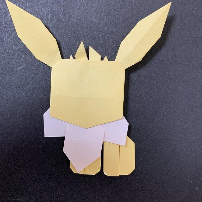 折り紙イーブイの作り方折り方補足 (2)
