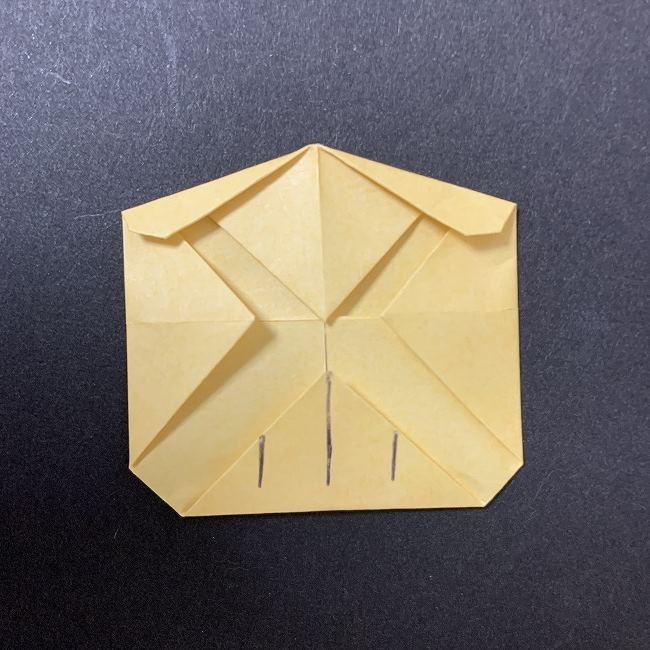 折り紙イーブイの作り方折り方 (7)