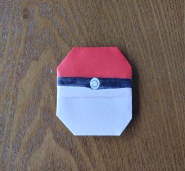 折り紙ポケモンボールの折り方は簡単!年長さんでも作れる作り方を紹介♪
