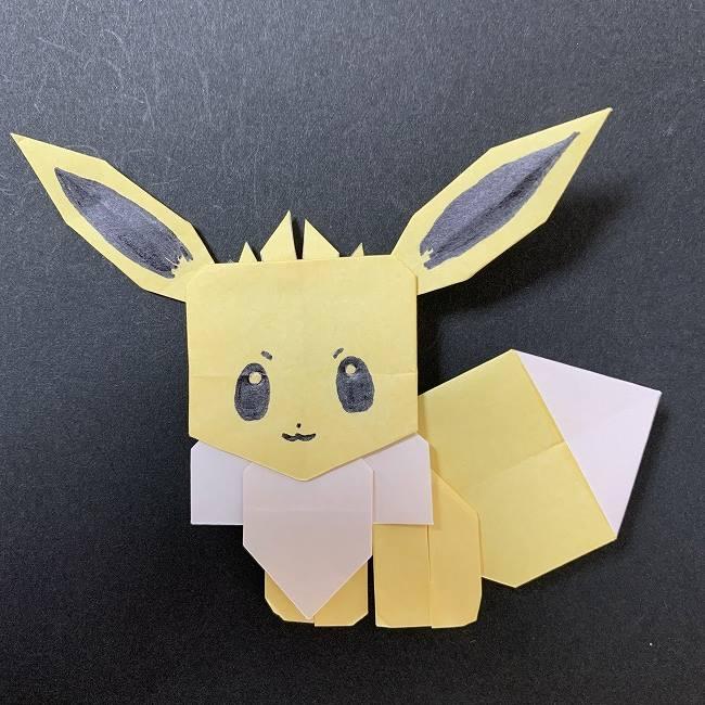 折り紙 イーブイの作り方(体つきで全身)★ポケモンのかわいいキャラクター