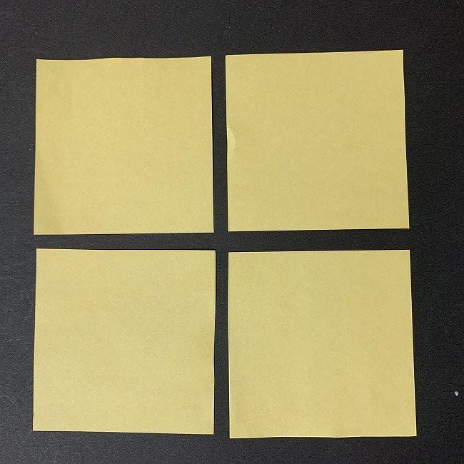 折り紙 イーブイの作り方*用意するもの