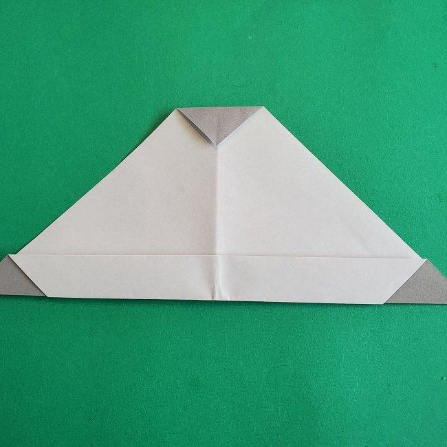 折り紙 簡単かわいいトトロの折り方作り方 (12)