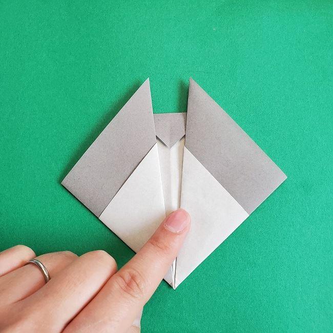 折り紙 簡単かわいいトトロの折り方作り方 (13)