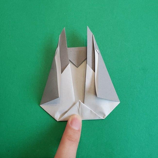 折り紙 簡単かわいいトトロの折り方作り方 (15)