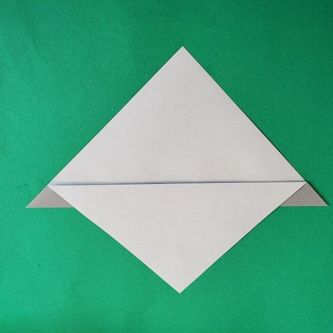 折り紙 簡単かわいいトトロの折り方作り方 (3)