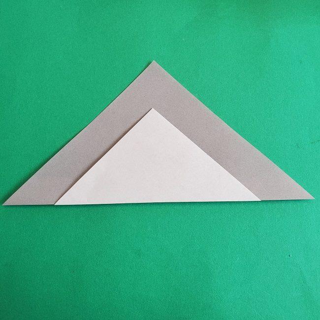 折り紙 簡単かわいいトトロの折り方作り方 (5)