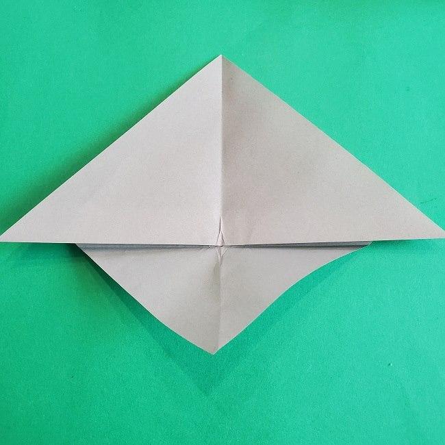 折り紙 簡単かわいいトトロの折り方作り方 (7)