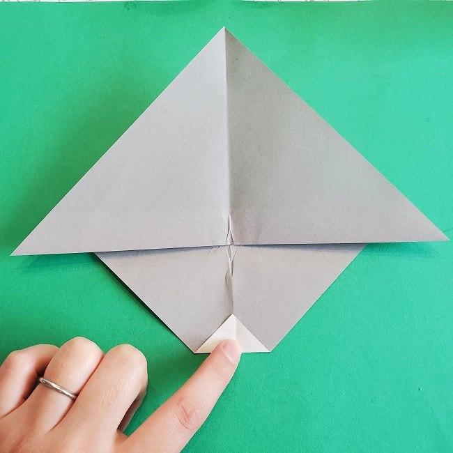 折り紙 簡単かわいいトトロの折り方作り方 (8)