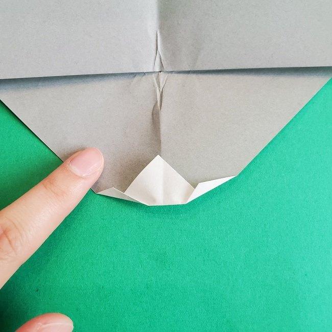 折り紙 簡単かわいいトトロの折り方作り方 (9)