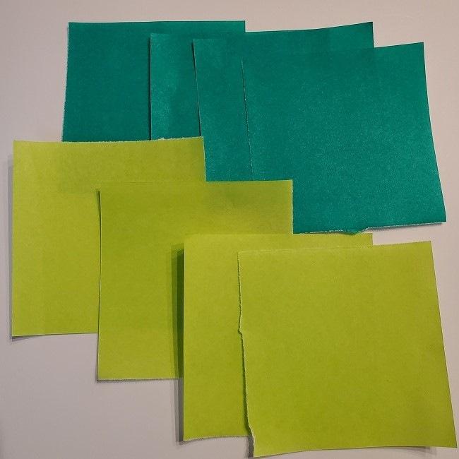 折り紙 菜の花のリース*用意するもの (1)