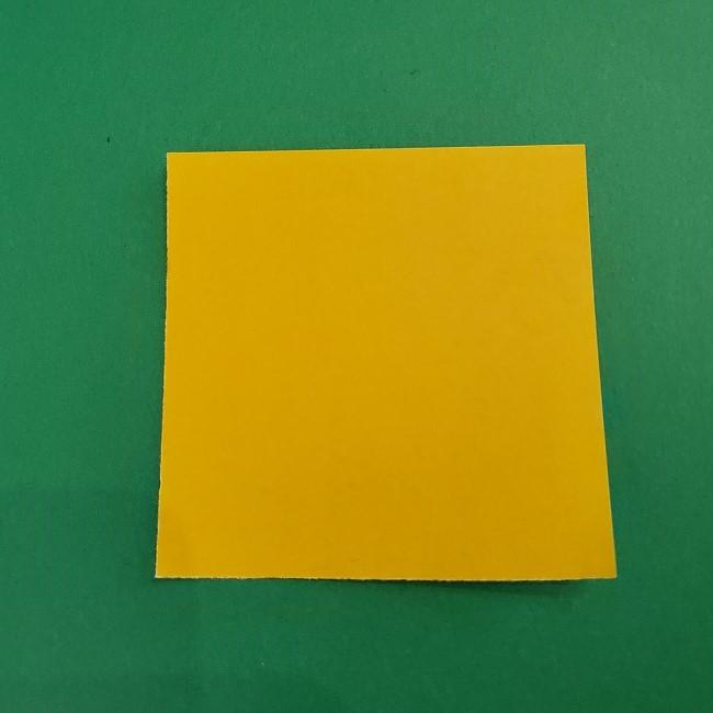 折り紙 菜の花(立体)の折り方作り方1花 (1)