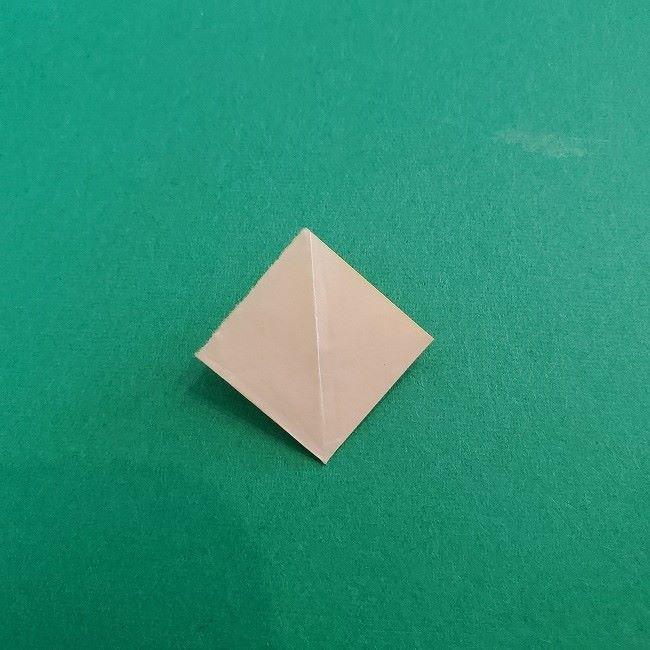 折り紙 菜の花(立体)の折り方作り方1花 (13)