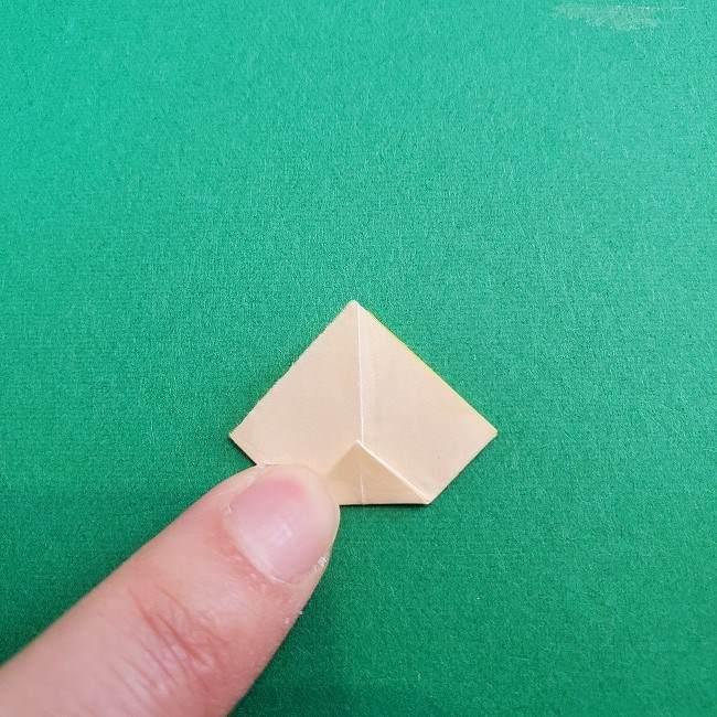 折り紙 菜の花(立体)の折り方作り方1花 (14)