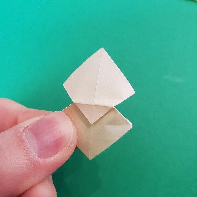折り紙 菜の花(立体)の折り方作り方1花 (16)