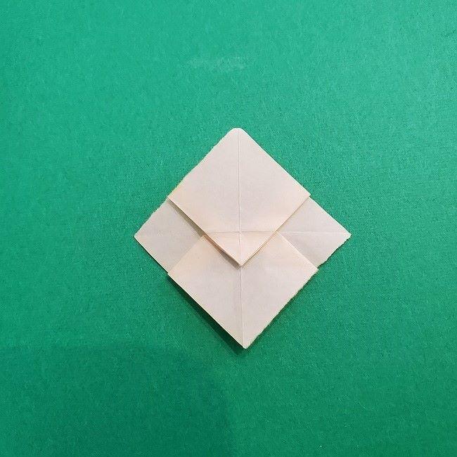 折り紙 菜の花(立体)の折り方作り方1花 (18)