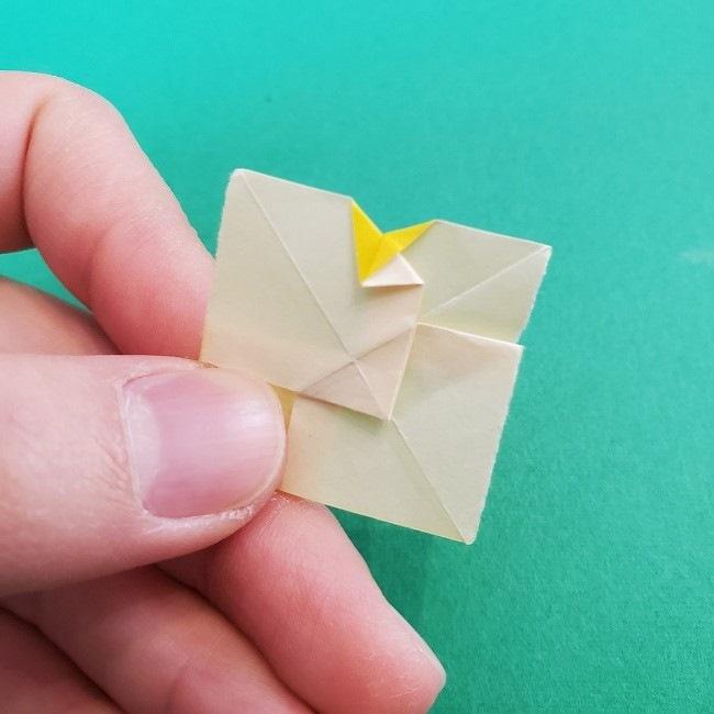 折り紙 菜の花(立体)の折り方作り方1花 (20)