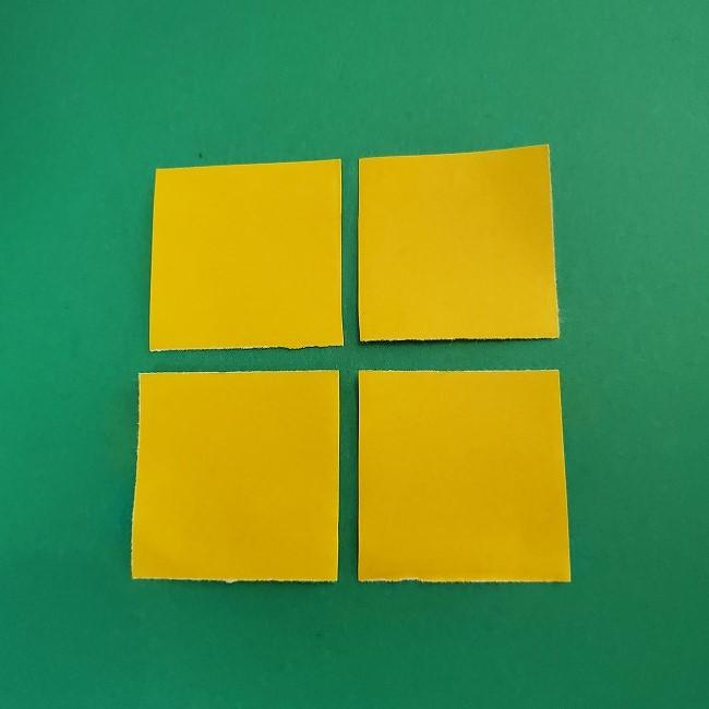 折り紙 菜の花(立体)の折り方作り方1花 (5)