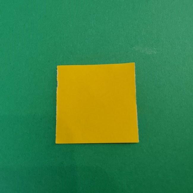 折り紙 菜の花(立体)の折り方作り方1花 (6)