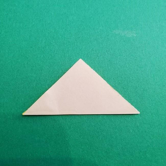 折り紙 菜の花(立体)の折り方作り方1花 (7)