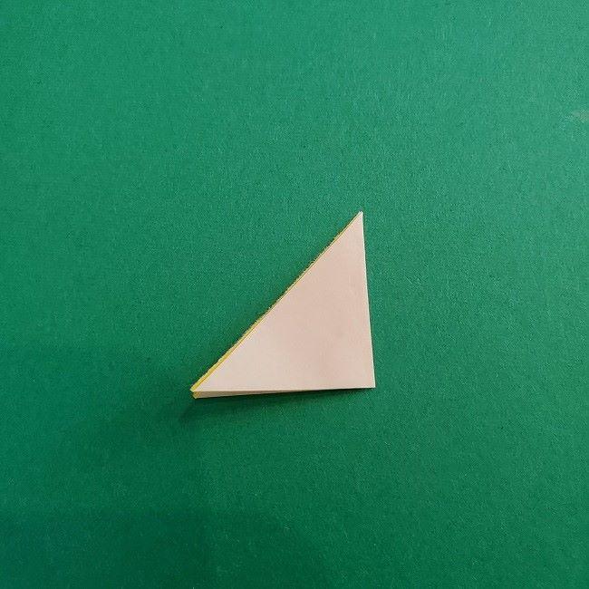 折り紙 菜の花(立体)の折り方作り方1花 (8)