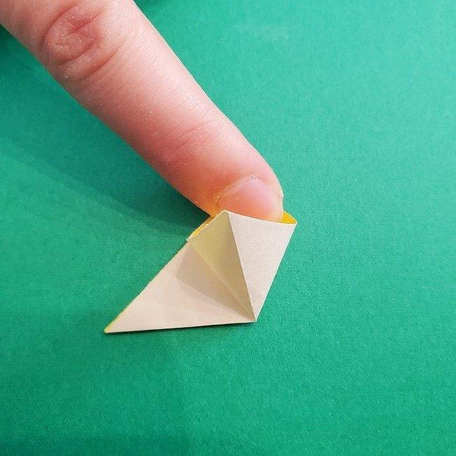 折り紙 菜の花(立体)の折り方作り方1花 (9)