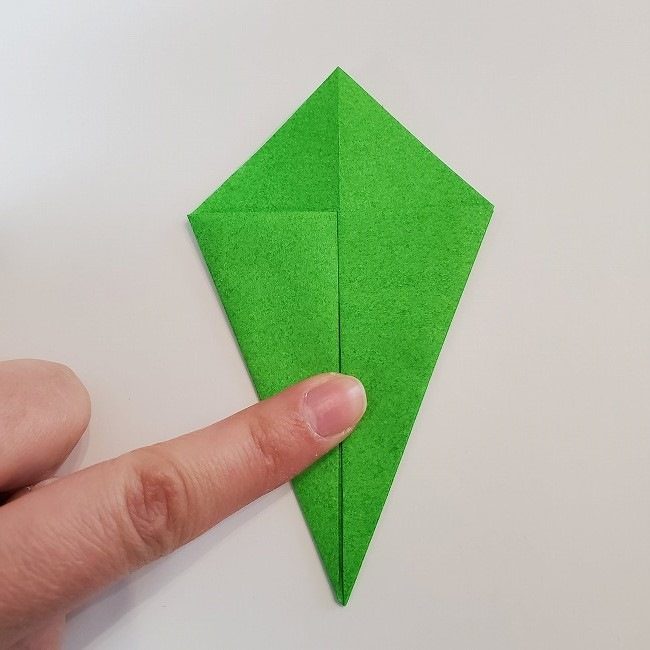 折り紙 菜の花(立体)の折り方作り方2土台 (11)