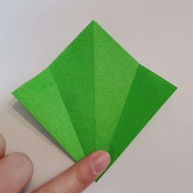 折り紙 菜の花(立体)の折り方作り方2土台 (12)