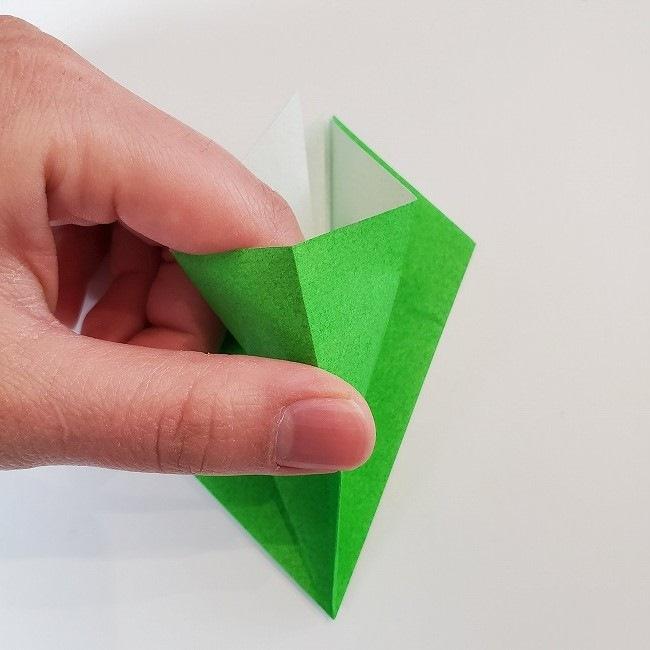 折り紙 菜の花(立体)の折り方作り方2土台 (14)