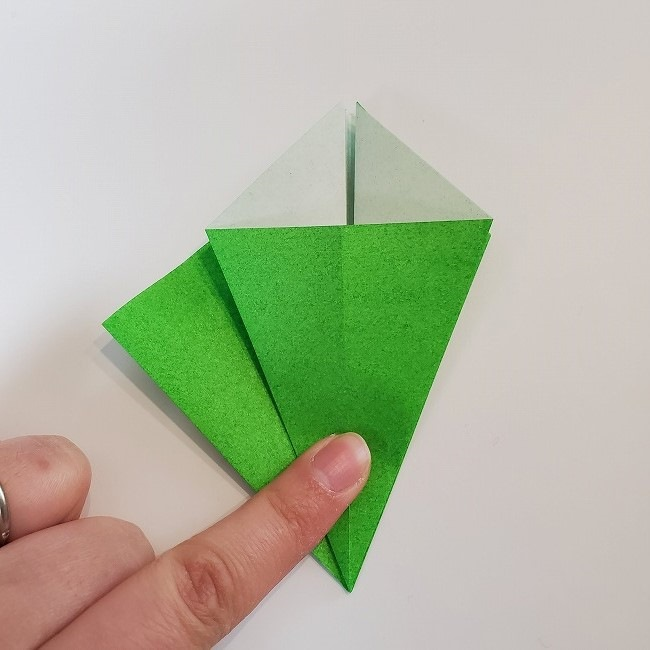 折り紙 菜の花(立体)の折り方作り方2土台 (15)