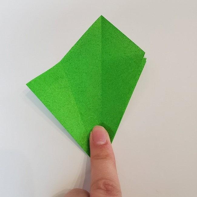 折り紙 菜の花(立体)の折り方作り方2土台 (16)