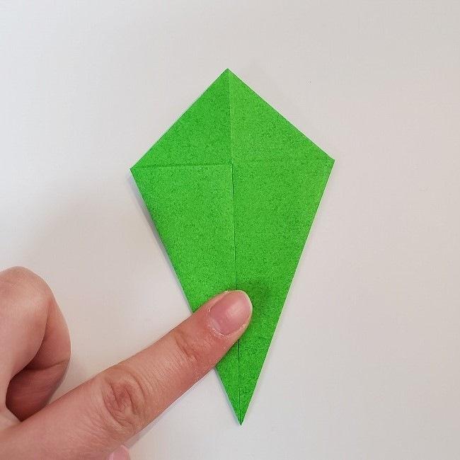 折り紙 菜の花(立体)の折り方作り方2土台 (18)
