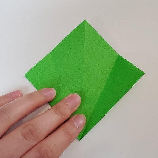 折り紙 菜の花(立体)の折り方作り方2土台 (19)