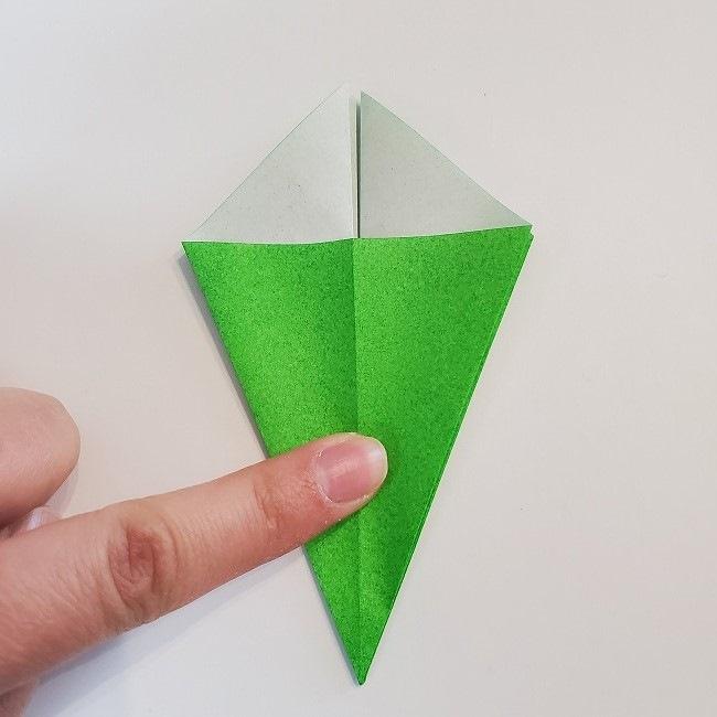 折り紙 菜の花(立体)の折り方作り方2土台 (20)