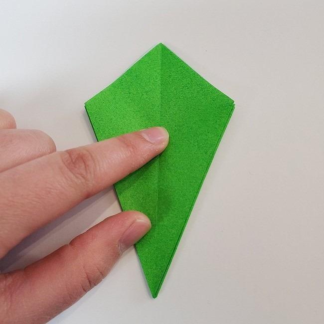折り紙 菜の花(立体)の折り方作り方2土台 (21)