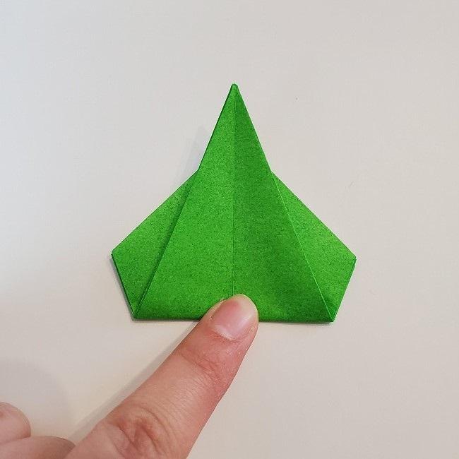 折り紙 菜の花(立体)の折り方作り方2土台 (23)
