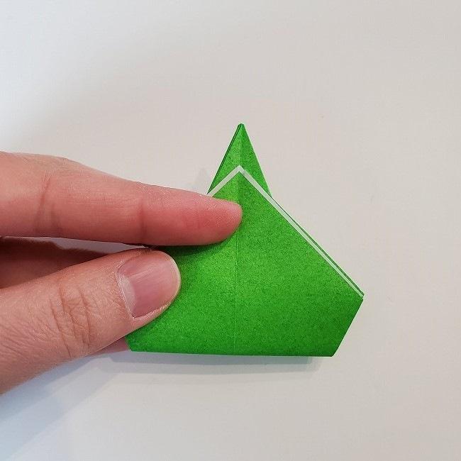 折り紙 菜の花(立体)の折り方作り方2土台 (24)
