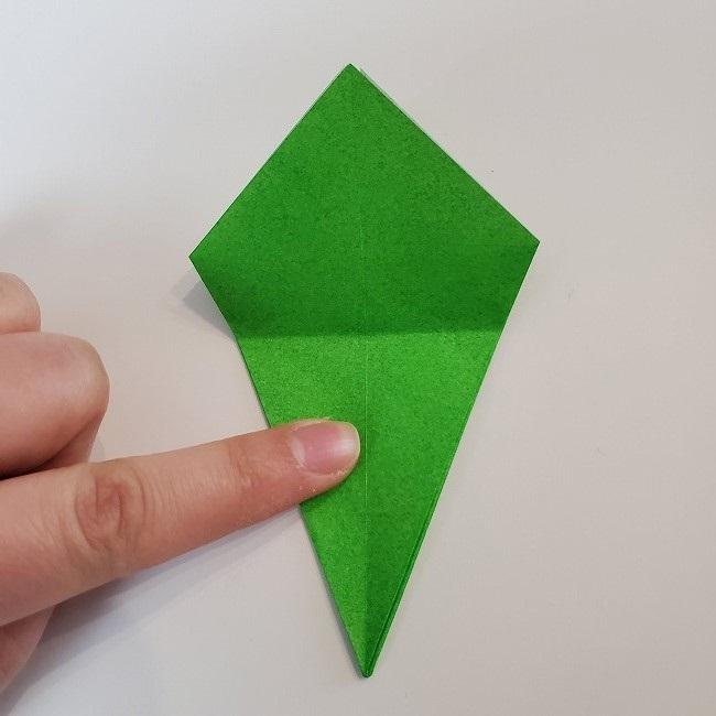 折り紙 菜の花(立体)の折り方作り方2土台 (25)