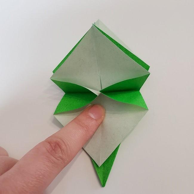 折り紙 菜の花(立体)の折り方作り方2土台 (26)
